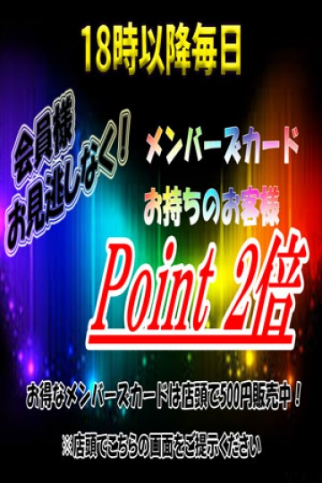 Point 2倍 Timeイメージ